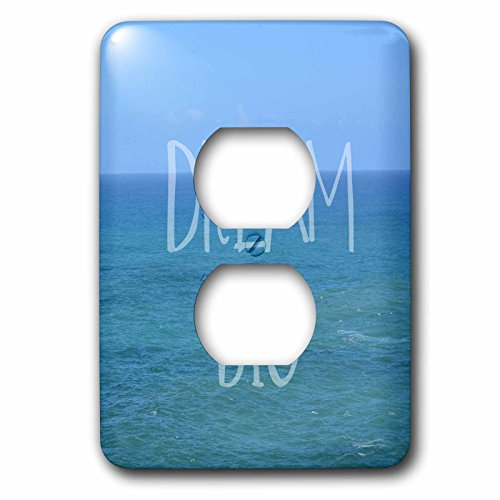 3dRose lsp_186711_6 Dream Big Hawaii Ocean Light Switch Cover by 3dRose