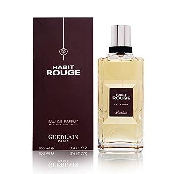 c0e34e60c4e97 Amazon.com : Guerlain Habit Rouge Eau de Parfum Spray for Men, 3.3 Ounce :  Beauty
