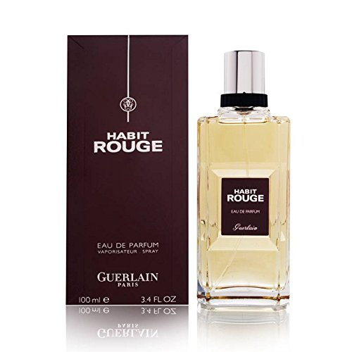 Guerlain Habit Rouge Eau de Parfum Spray for Men, 3.3 Ounce (Rouge Perfume)