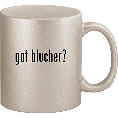 got blucher? - 11oz Ceramic Coffee Mug Cup, Silver ()