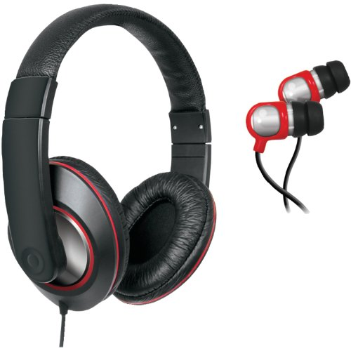 iSound DJ Style Headphones with included matching earbuds (Dreamgear Earphones)
