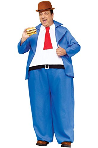[8eighteen Popeye Wimpy Hoop Jumpsuit Adult Costume] (Popeye Plus Size Adult Mens Costumes)