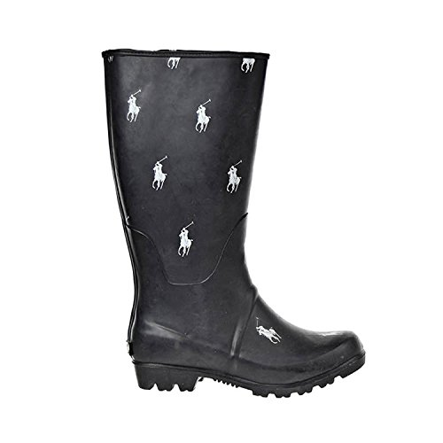 Polo Ralph Lauren repeat Pony RB Little Kids Boots Black/White 95472 (1 M - Polo Ralph Lauren Boots For Women