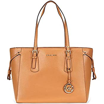 Amazon.com  MICHAEL Michael Kors Voyager Medium Leather Tote (Acorn ... 17d9e5a7d3