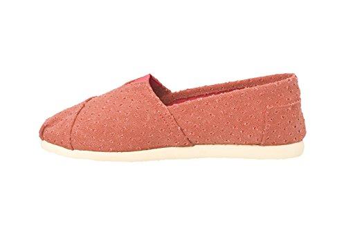 Brasileras Tejano - Alpargatas unisex, color rojo teja, talla 38