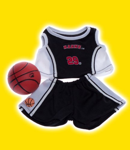Make Your Own Halloween Costume With Clothes (Black and White Basketball Outfit with Ball Fits Most 8