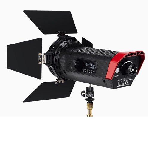 Aputure LS-mini 20 C 3200-6500 k Lightweight Fresnel LED Light Pro kit W/ 2 Battery Stand + A&R Cloth