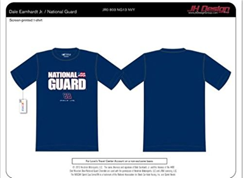 Dale Earnhardt JR #88 Nascar National Guard Navy Blue T-shirt (3XL) ()