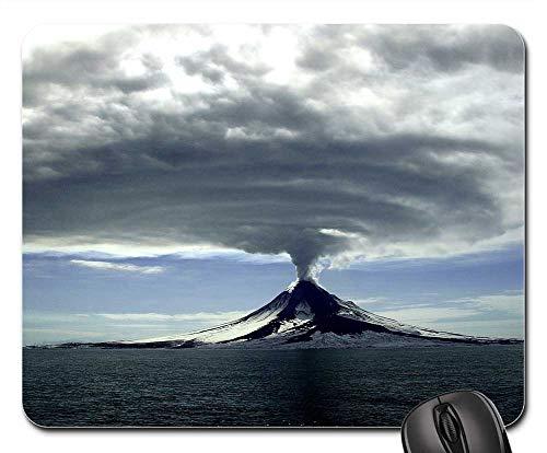 Mouse Pad - Volcano Erupting Landscape Scenic Smoke Steam