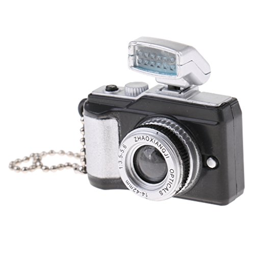 MonkeyJack Black Metal & Plastic Made Miniature SLR Camera for 1:12 Scale Dollhouse Furniture Decor Kits