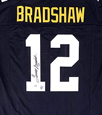 df2dd00ee Pittsburgh Steelers Terry Bradshaw Autographed Black Jersey