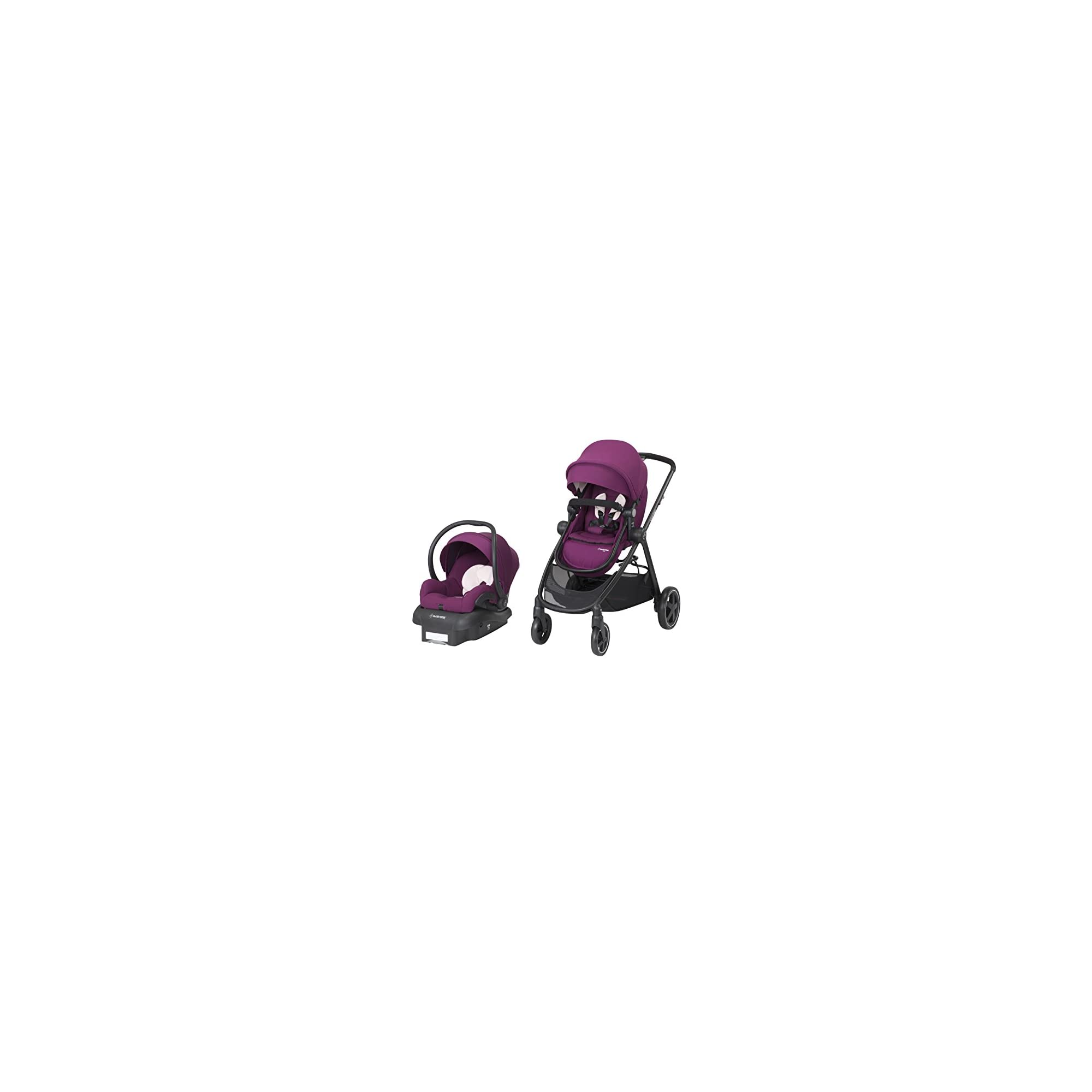Maxi-Cosi Zelia 5-in-1 Modular Travel System – Stroller and Mico 30 Infant Car Seat Set, Violet Caspia