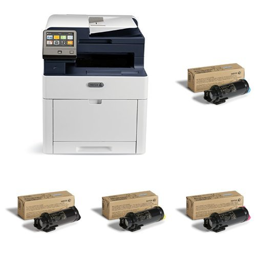- Xerox WorkCentre with Cyan, Magenta , Yellow and Black Standard Capacity Toner Cartridges