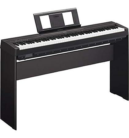 Pack Piano Digital Yamaha P45 Negro + Soporte L-85 – stock B