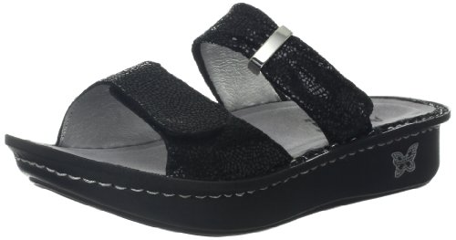 Alegria Women's Karmen Sandal,Black Metallic Fun,35 BR/5-...