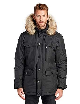 Noize Cain Men's Winter Coat, Faux Fur Trim, Detachable