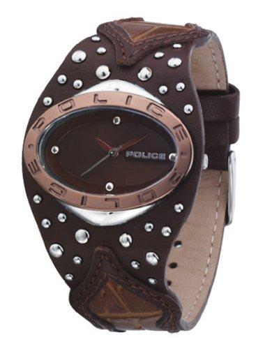 Police Women's PL-11600MSTBN/22 Vamp Brass Dial Watch