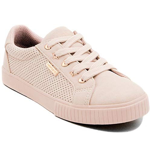 Nautica Girls Kids Fashion Sneaker Low-Top Lace Up Sneaker-Steam Girls-Mineral Pink-2