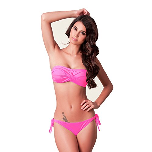 Tricandide Womens Sexy Top Bow Strapless Bikini Set - Strapless Bow Swimwear