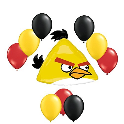 Angry Birds Yellow Balloon Bouquet 10