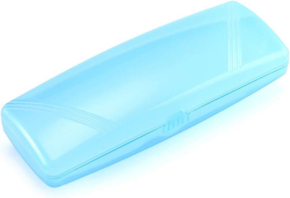 Custodia per occhiali in plastica da sole portatile per uomo e donna Exceart colore: verde chiaro 14.5X4.9cm verde chiaro trasparente