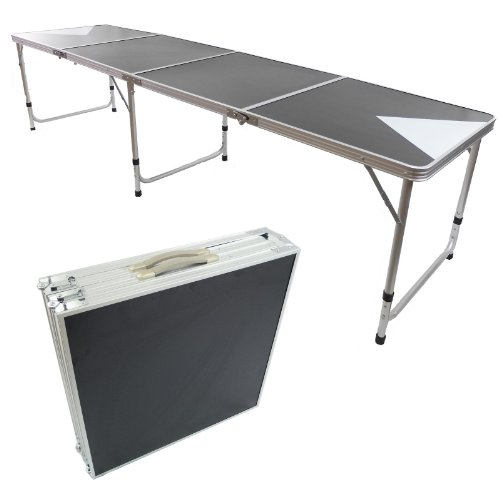 NEW 8' BEER PONG TABLE ALUMINUM PORTABLE ADJUSTABLE FOLDING INDOOR OUTDOOR TAILGATE PARTY GAME #3 (Beer Pong Mats)