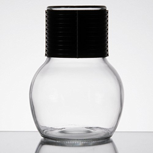 Libbey 5065 11.5 oz. Glass Hottle Server with Black Band - 24/Case