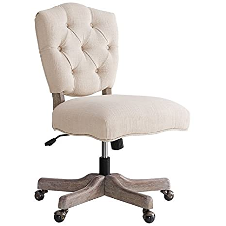 Phenomenal Riverbay Furniture Tufted Swivel Office Chair In White Ocoug Best Dining Table And Chair Ideas Images Ocougorg