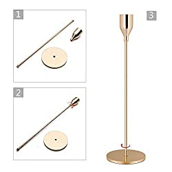 WillGail Gold Brass Candle Holders for Taper Candl