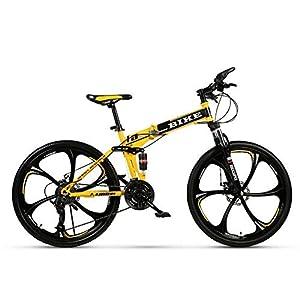 Novokart-Sport Pieghevole/Mountain Bike 24/26 Pollici 6 taglierina, Giallo 12 spesavip