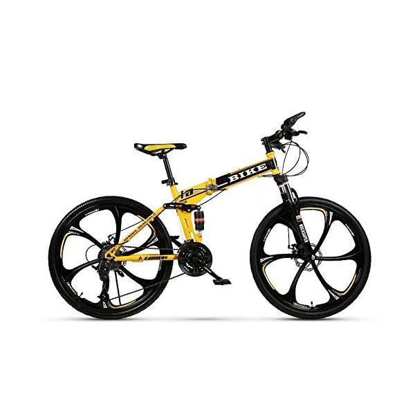 Novokart-Sport Pieghevole/Mountain Bike 24/26 Pollici 6 taglierina, Giallo 1 spesavip