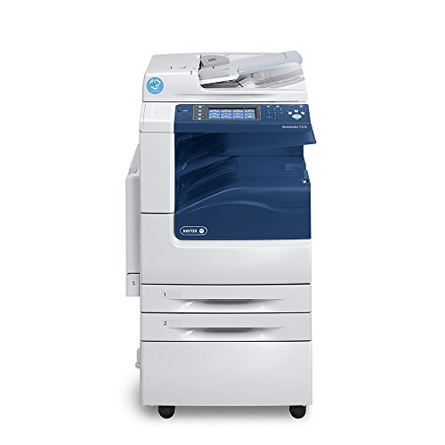 (Xerox WorkCentre 7220i Tabloid-size Color Laser Multifunction Copier - 20ppm, Copy, Print, Scan, Internet Fax, Print from USB, Scan to E-mail/Folder/Network, 2 Trays, Stand)