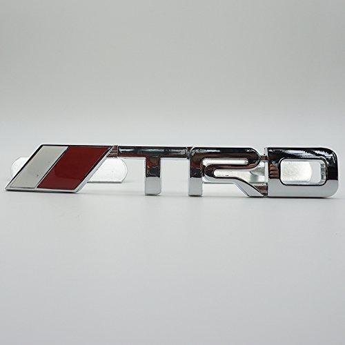 Firemans 2 Pcs 3D TRD Racing Grille Grill Emblem Badge Universal for Camry Corolla Yaris Front Grille Emblem Back Emblem sticker