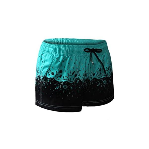 Lau's Pantaloncini da bagno per donna - Short da bagno coulisse con stampa floreale 2 spesavip