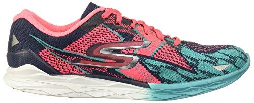 Skechers Womens/Ladies Go Meb Speed 4 Lightweight Track Running Shoes Navy / Hot Pink achkSsjx