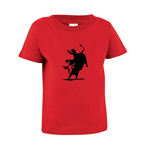 Pro Bull Rodeo - Rodeo Cowboy Bull Riding Toddler Baby Kid T-Shirt Tee Red 2T