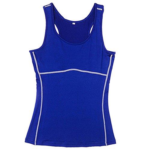 VLUNT - Camiseta sin mangas - para mujer Azul