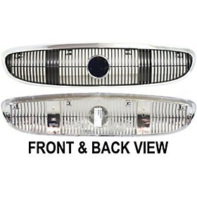 BUICK CENTURY 03-05 GRILLE, /Silver-Black