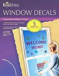 Royal Brites Imprintable Window Decals, 8.5 x 11 Inches, Pack of 5 Sheets ()
