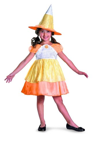 Costume Sugar Halloween Candy (Sugar Shock Candy Corn Witch Classic Costume, Yellow/Orange/White,)