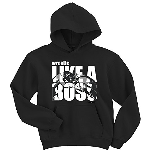 Wrestling Hoodie: Wrestle Like A Boss-Adult Small by Image Sport