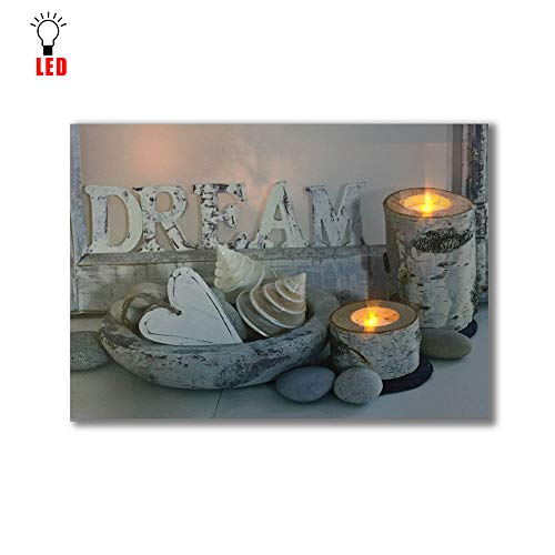 Coming My House Candle Wall Art Painting