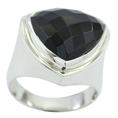 3e75ee8aa7bc 70% OFF Anillo de ónix negro natural de plata de ley con forma de billón