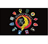 USA Premium Store Vietnam Veterans Flag 3x5 ft Our Cause Was Just Map with Unit Insignia Black
