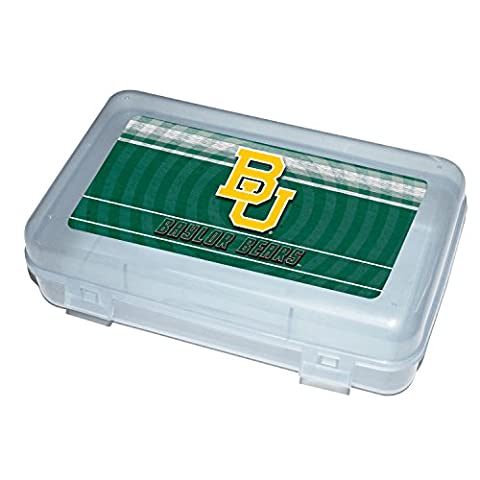 C.R. Gibson Plastic Pencil Case With Team Logo, Licensed By NCAA, Measures 8.25
