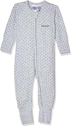 Bonds Baby Zippy - Terry Poodlette Zip Wondersuit, Grey & Steel Spot, 0 (6-12 Months)
