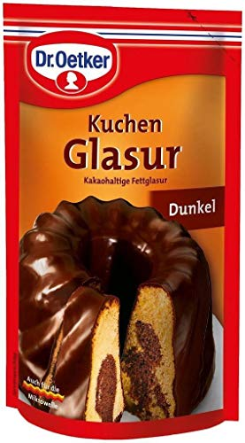 Dark Chocolate Glaze - Dr Oetker Dunkel Kuchen Glasur 125g/4.4oz Dark Chocolate Icing