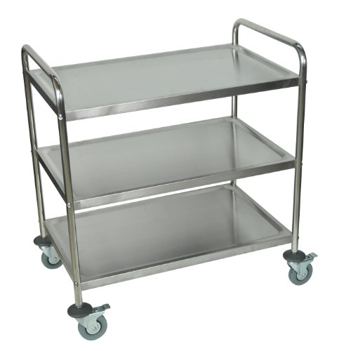 LUXOR ST-3 Stainless Steel Utility Cart, 37