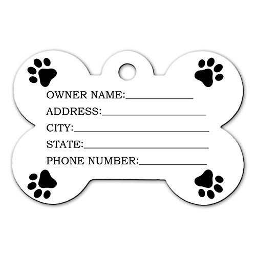BleuReign(TM Personalized Custom Name Florida State License Plate Bone Shaped Metal Pet ID Tag with Contact Information by BleuReign (Image #1)