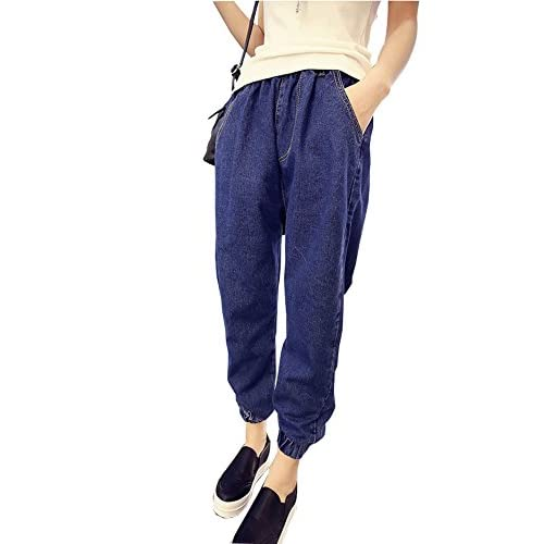 0c0350bfd45 new Mujer Boyfriend Vaqueros Loose Fit Pantalones Jeans Harem Pants Color  Sólido